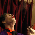 Joker enjoys a good cigar